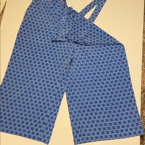 The Limited Plazzo Pants in blue print